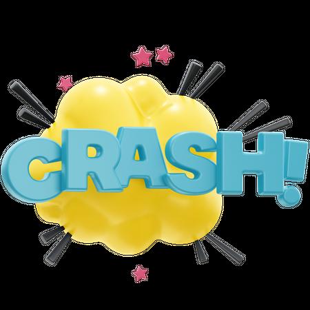 Crash 3D Illustration