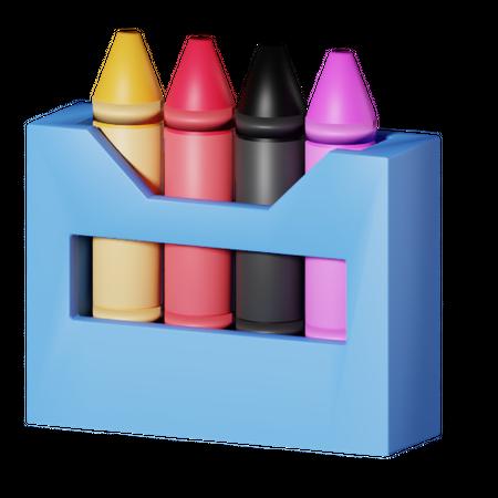 Crayons 3D Illustration