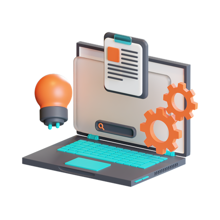 Creative process 3D Illustration
