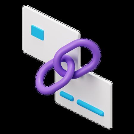 Credit Card Link 3D Illustration