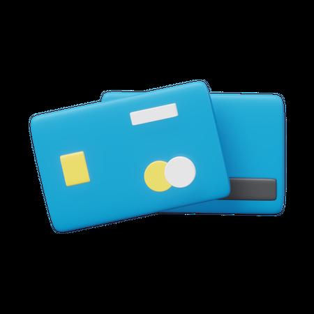 Credit Cards 3D Illustration