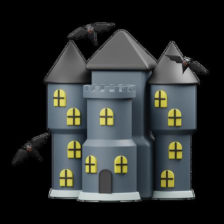 Creepy House 3D Illustration