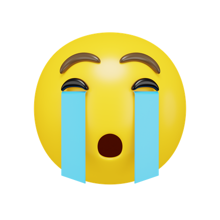 Crying Face 3D Illustration
