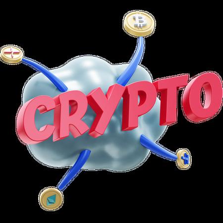 CRYPTO 3D Illustration