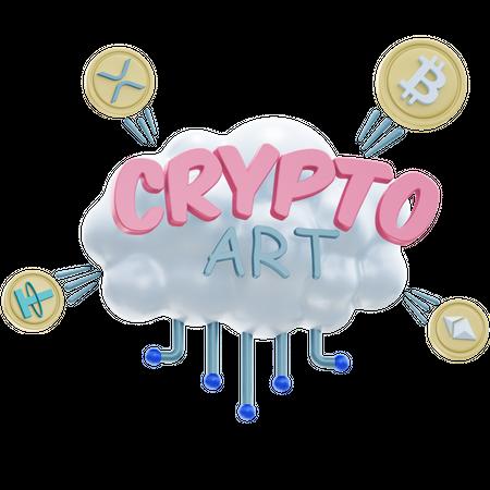 CRYPTO ART 3D Illustration