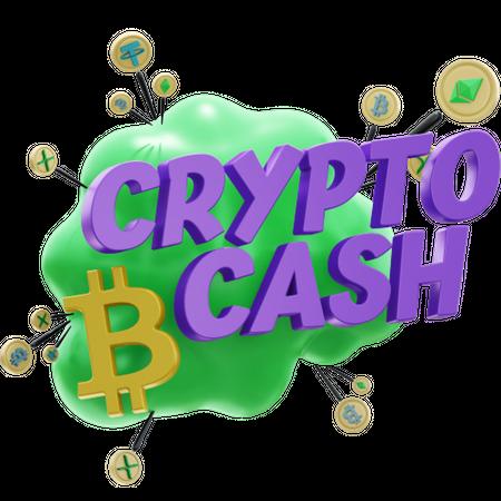 CRYPTO CASH 3D Illustration