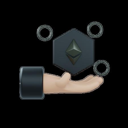 Crypto future 3D Illustration