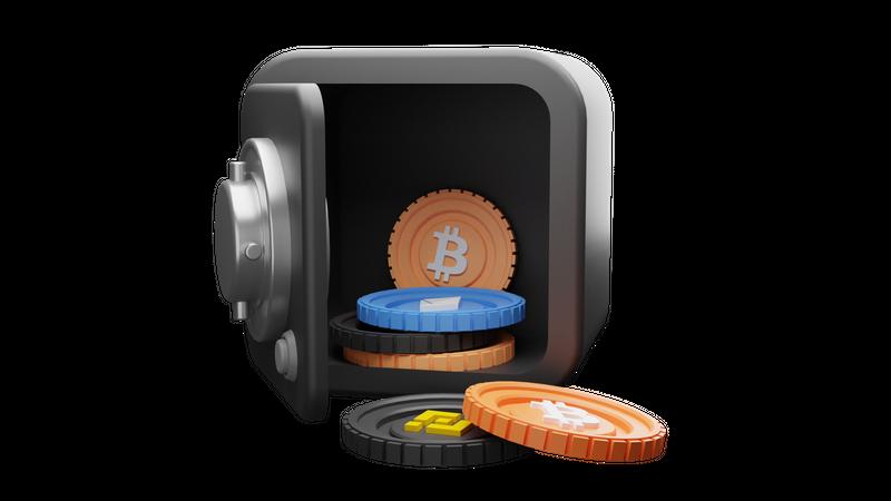 Crypto Locker 3D Illustration