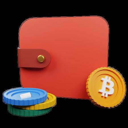 Crypto wallet 3D Illustration