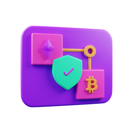 Cryptocurrency Exchange 3D Illustration