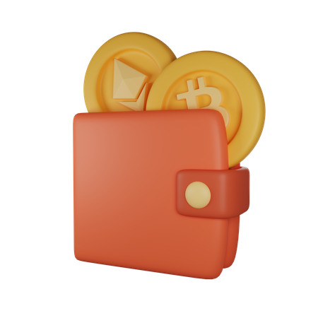 Cryptocurrency Wallet 3D Illustration