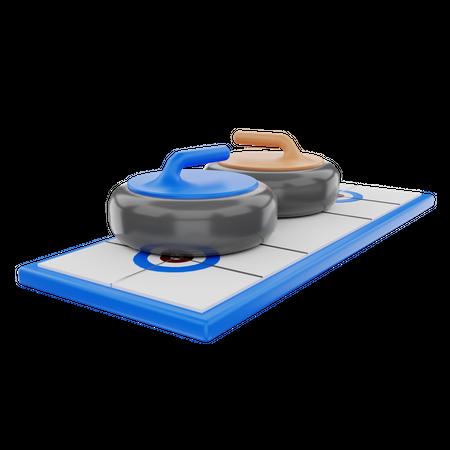 Curling 3D Illustration