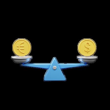 Currency Balance 3D Illustration
