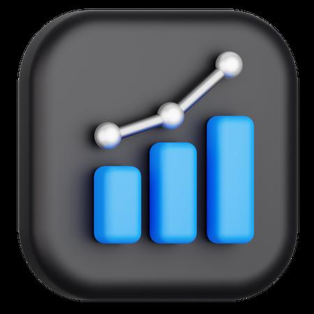Data Chart 3D Illustration
