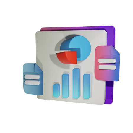 Data Visualisation 3D Illustration