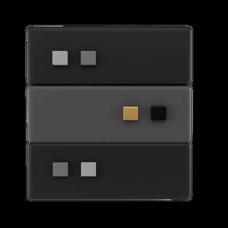 Database Server 3D Illustration