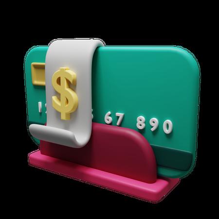 Debit Card 3D Illustration