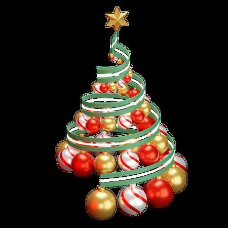 Decorative Christmas Tree 3D Illustration