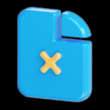 Delete file 3D Illustration
