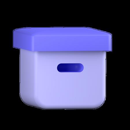 Delivery Box 3D Illustration