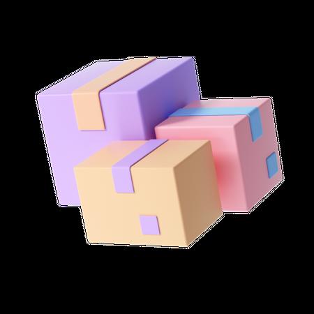 Delivery Boxes 3D Illustration