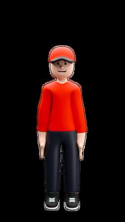 Delivery Boy 3D Illustration