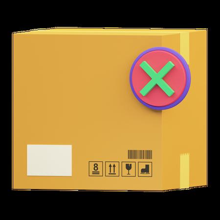 Delivery Cancelled 3D Illustration