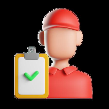 Delivery Checklist 3D Illustration