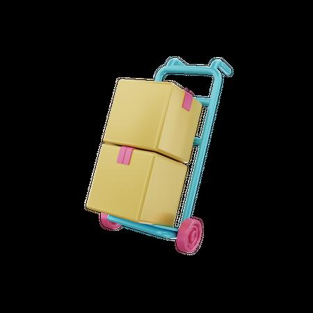 Delivery Dolly 3D Illustration