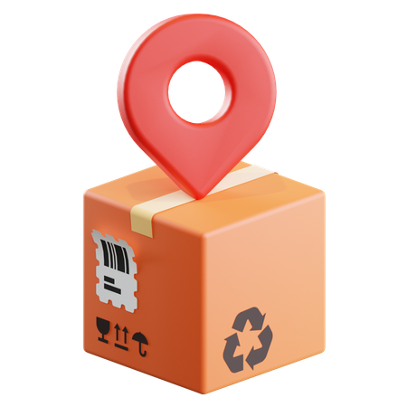 Delivery Location 3D Illustration