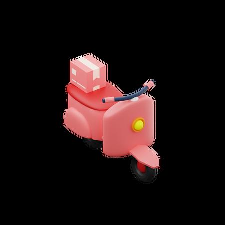 Delivery Scooter 3D Illustration