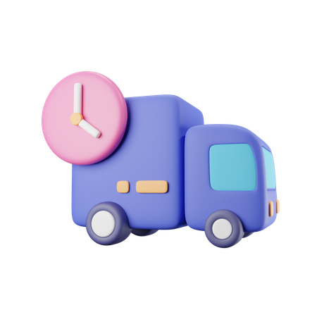 Delivery Time 3D Illustration