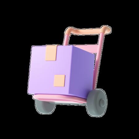 Delivery Trolley 3D Illustration