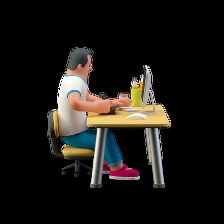 Designer desk 3D Illustration
