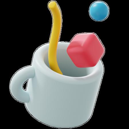 Designing Tool 3D Illustration