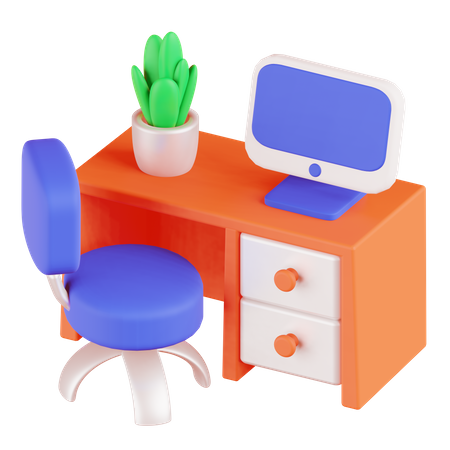 Desk 3D Illustration