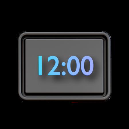 Digital Clock 3D Illustration