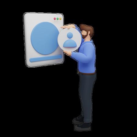 Digital marketing concept 3D Illustration