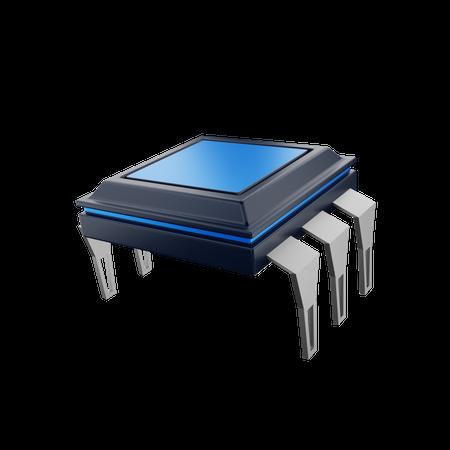 Diode Chip 3D Illustration