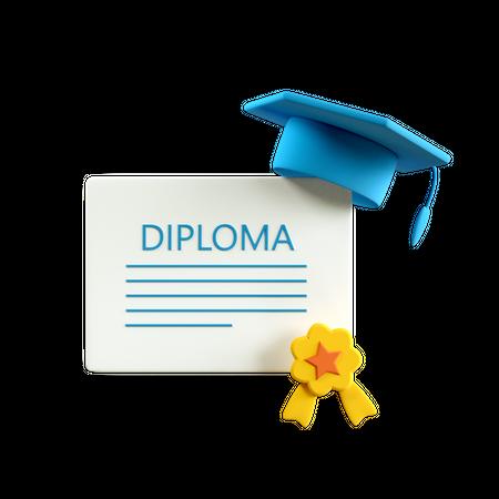 Diploma 3D Illustration