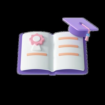 Diploma Certificate 3D Illustration