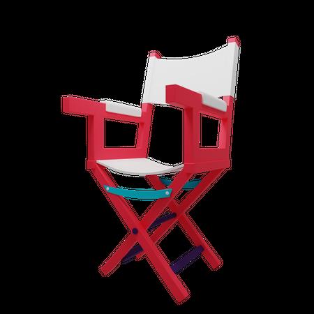 Director Chair 3D Illustration