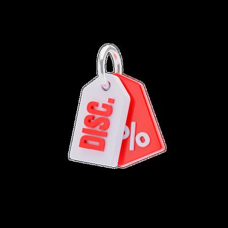Discount Tag 3D Illustration