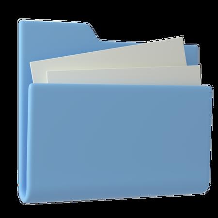Document Folder 3D Illustration