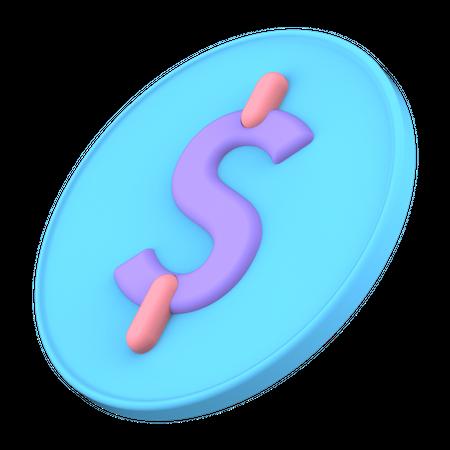 Dollar Coin 3D Illustration