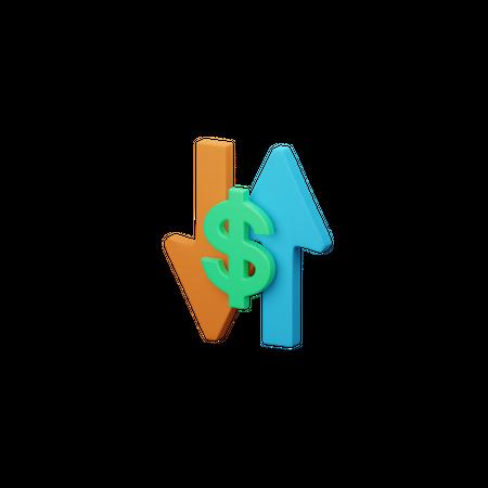 Dollar Value 3D Illustration