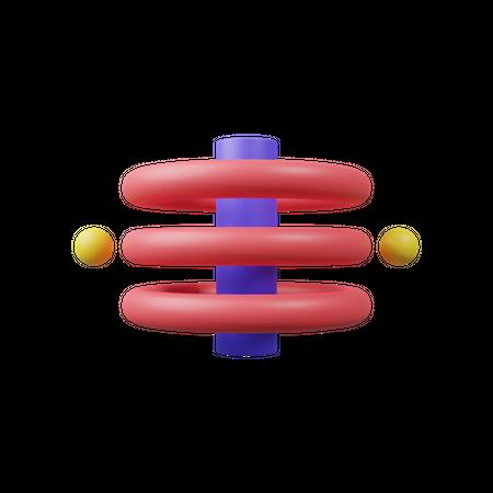 Double Helix 3D Illustration