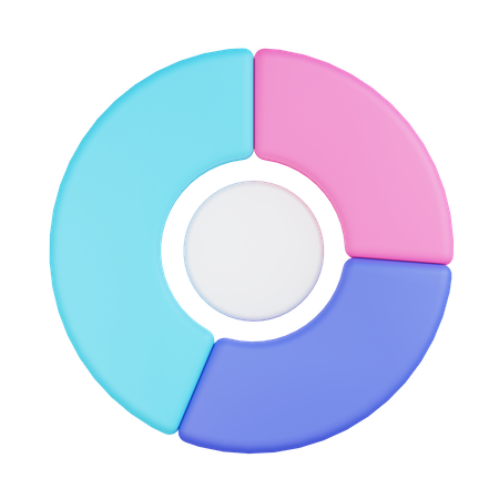 Doughnut Chart 3D Illustration