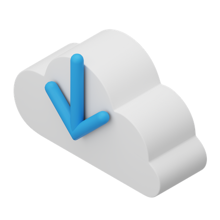 Download from Cloud 3D Illustration