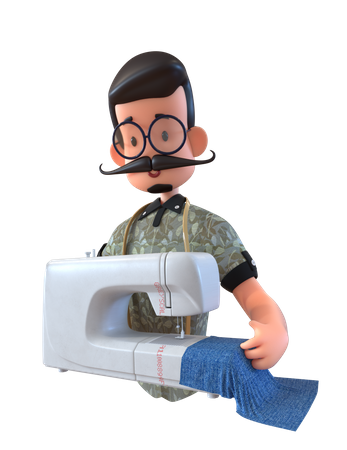 Dressmaker 3D Illustration